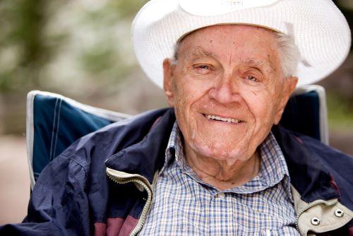 80 year old man smiling
