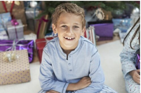 9 year old boy with gifts