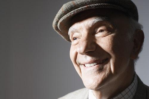75 year old man smiling