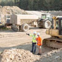 civil engineer on work site