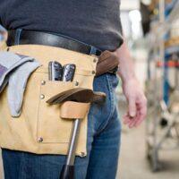 handyman wearing tool pouch