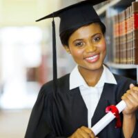 law student with graduation cap and gown