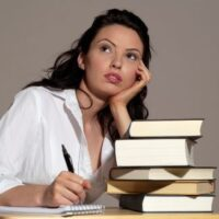 a writer thinking with her books